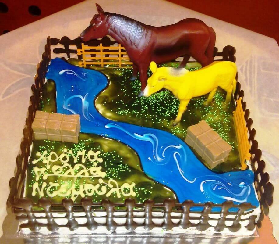 Τούρτα Γενεθλίων - Άλογα