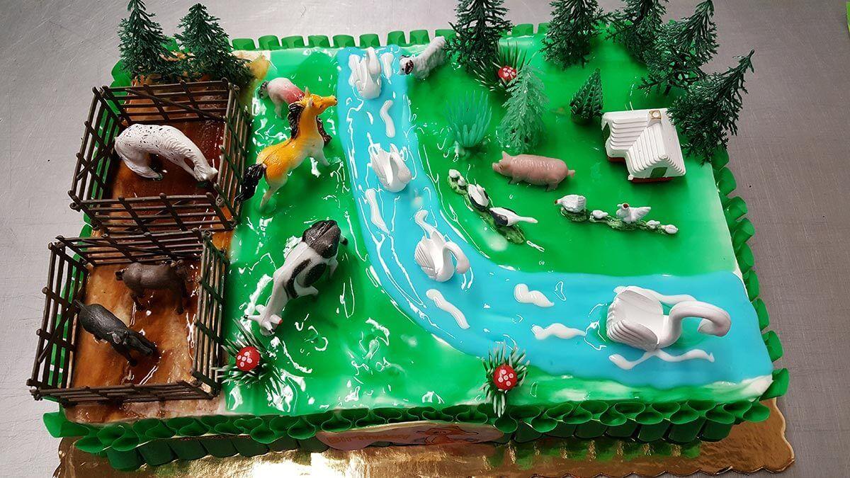 Τούρτα Γενεθλίων - Φάρμα με Ζώα