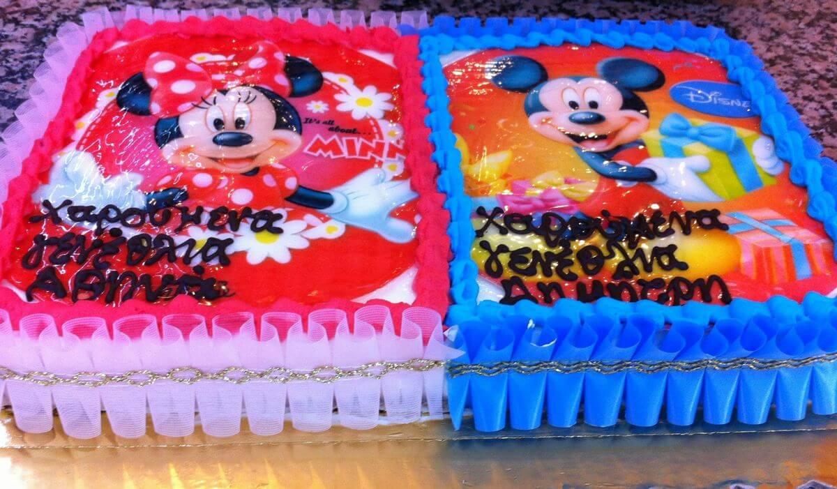 Τούρτα Γενεθλίων - Mickey - Minnie