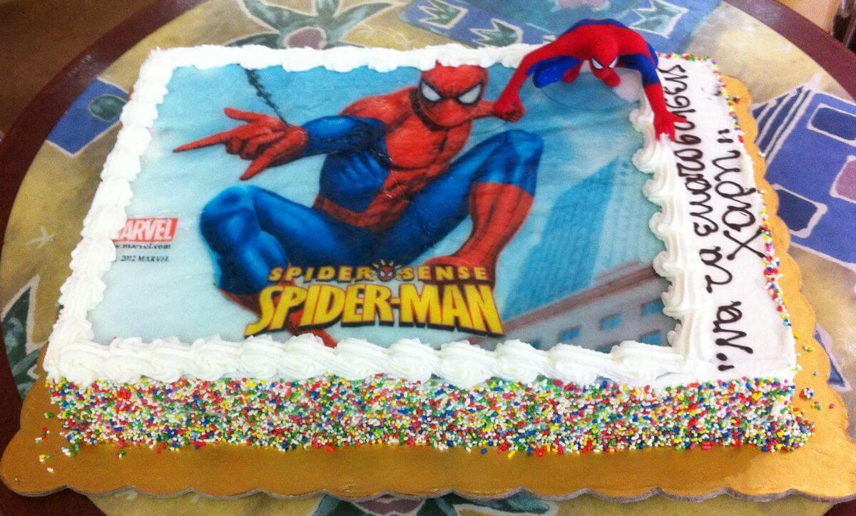 Τούρτα Γενεθλίων - Spiderman