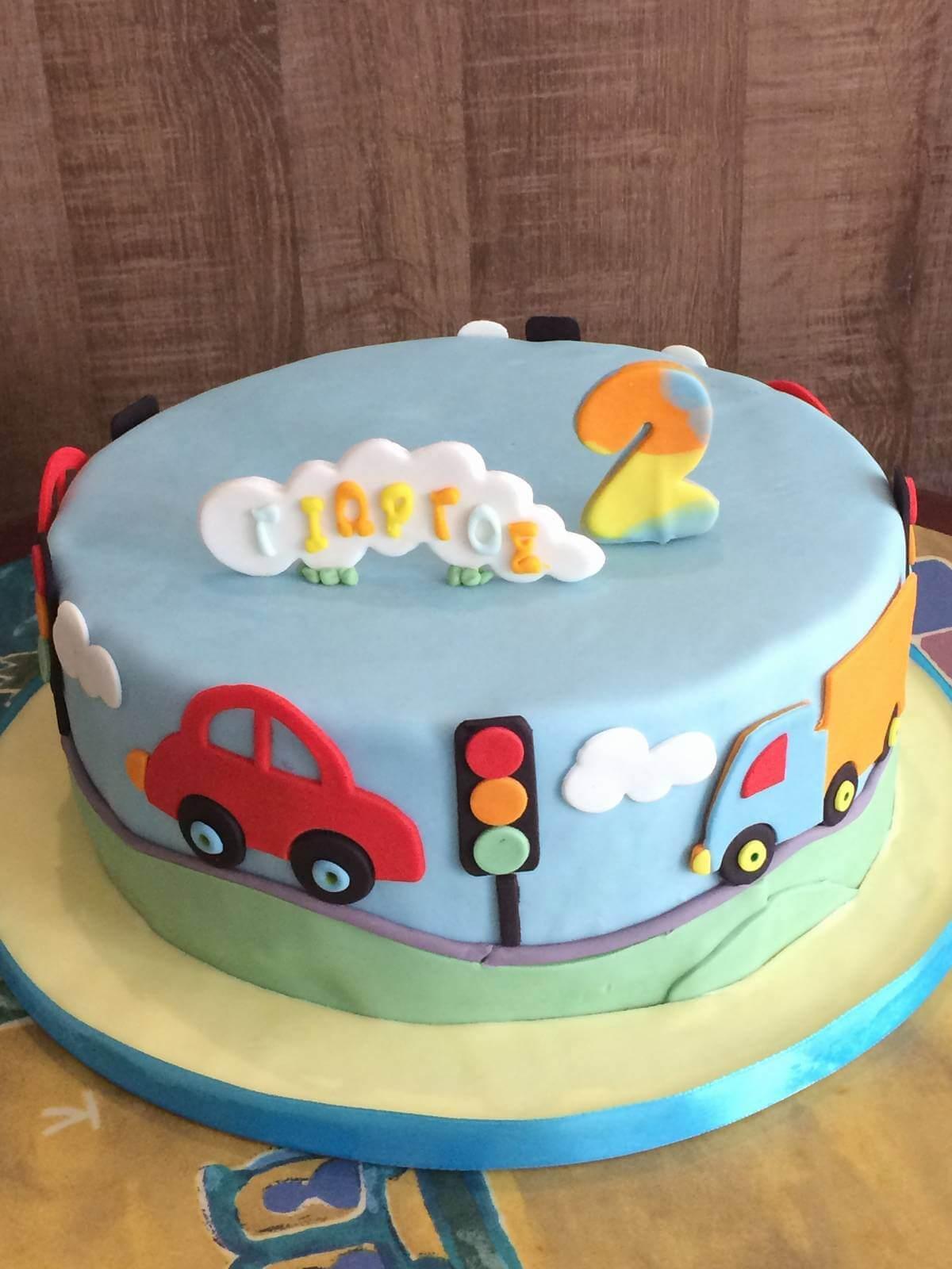 Τούρτα Γενεθλίων - Αυτοκίνητα