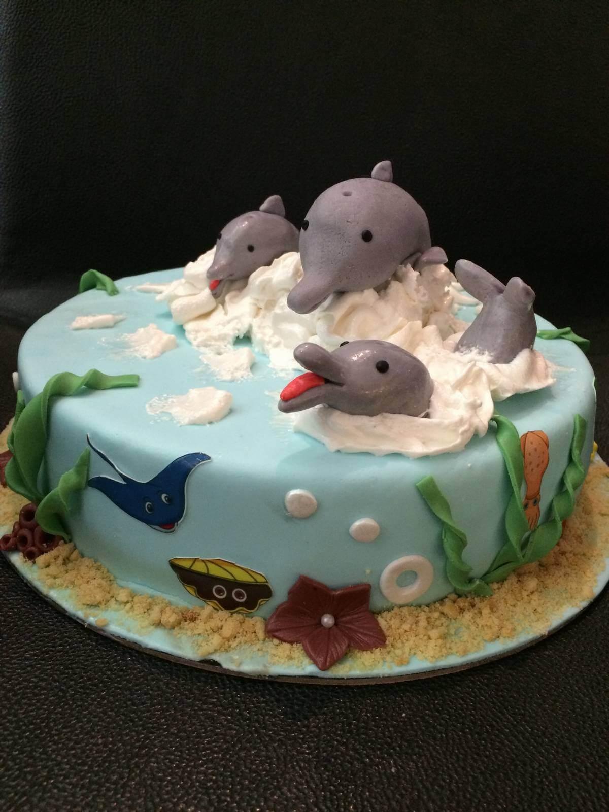 Τούρτα Γενεθλίων - Δελφίνια